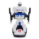 Робот «Полицейский», трансформируется, световые и звуковые эффекты, работает от батареек - фото 105504613