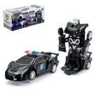 Робот «Полицейский», трансформируется, световые и звуковые эффекты, работает от батареек - фото 105504619