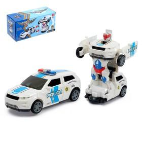 Робот-трансформер «Полицейский», световые и звуковые эффекты, работает от батареек