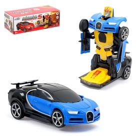 Робот-трансформер «Спорткар», световые и звуковые эффекты, работает от батареек