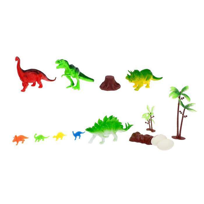 Набор динозавров «Мир динозавров», 8 фигурок , с аксессуарами