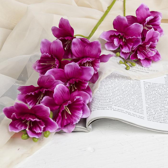 """Цветы искусственные """"Дельфиниум волнистый"""" 7,5*82 см, фиолетовый"""