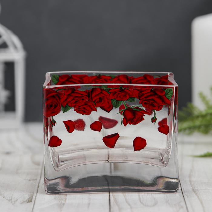 """Ваза для цветов """"Розарий"""" 7,5х10; h-9 см"""