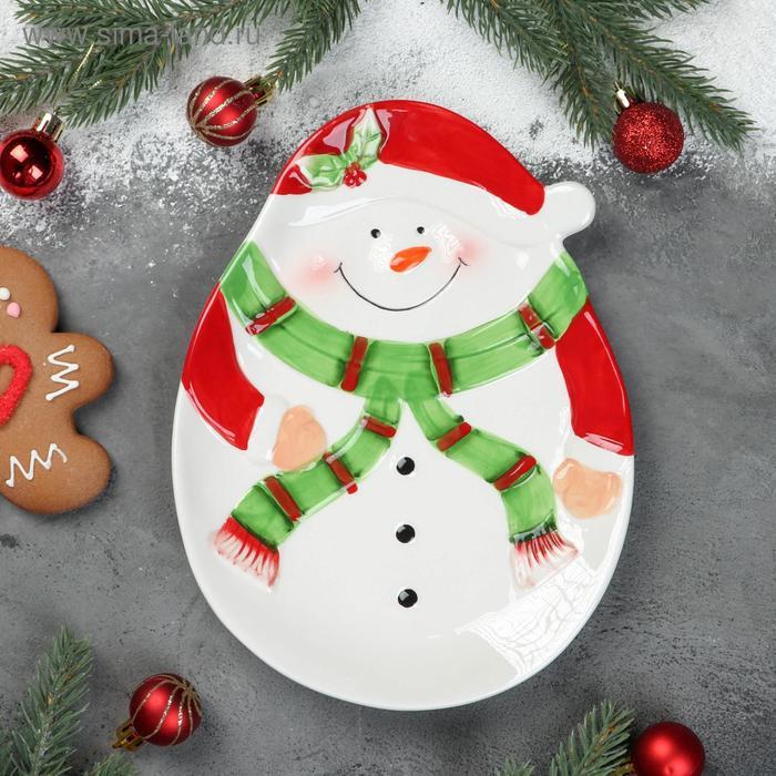"Dish ""Snowman"" 24,4x18,2x2,4 cm"