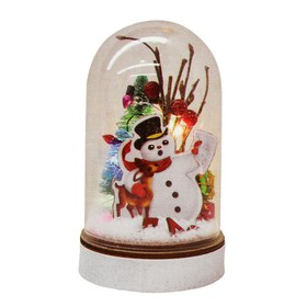 """Набор для творчества - создай ёлочное украшение """"Снеговик с подарками"""" с подсветкой"""