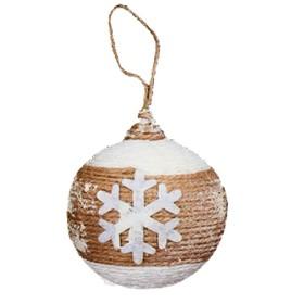 Набор для творчества - создай ёлочное украшение «Шар со снежинкой»