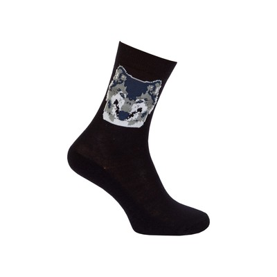 Men's socks with Terry following, color black, size 27