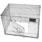 Клетка складная, с пласт. поддоном, 60 х 40 х 40 см, шагрень светлое серебро