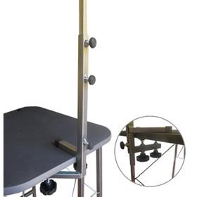 Стойка-кронштейн регулируемая для стола - груминг, сварной держатель, 0,75 м, высота 40 см
