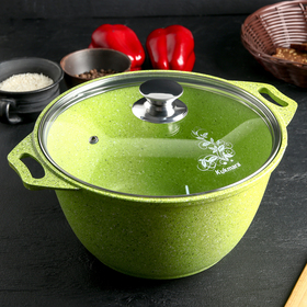 Pan 4 l Trendy style, with glass lid, AP line, lime color