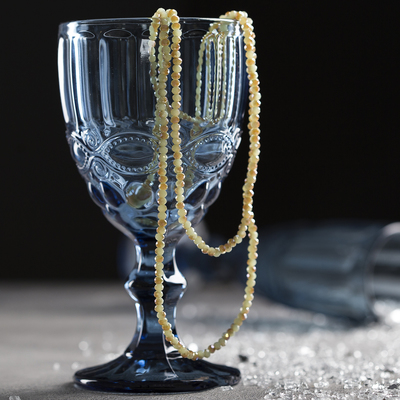 "Beads ""Crystal"" elastic, green-gold"
