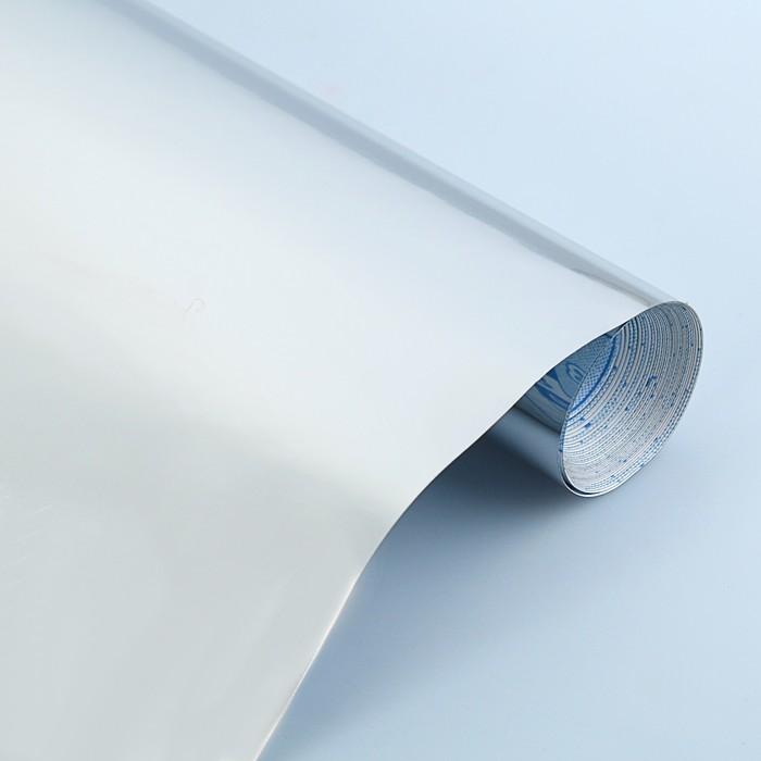 Плёнка самоклеящаяся цветная 0.5*3 м Sadipal 100 мкм, Metallic серебрянная 12238
