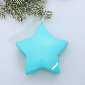 """Suspension on the tree """"turquoise star"""" 10 cm"""