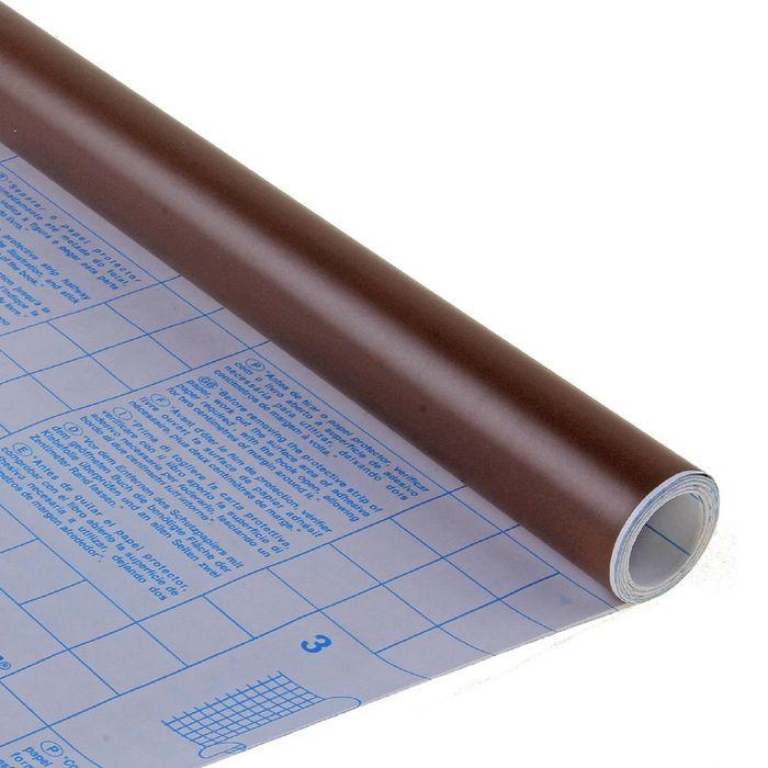Пленка самоклеящаяся цветная 0.5*3 м Sadipal 100 мкм, Matt коричневая 12241