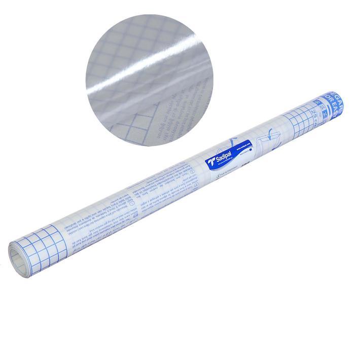 Пленка самоклеящаяся прозрачная бесцветная для книг и учебников 0.45*3.0 м 50мкм Sadipal