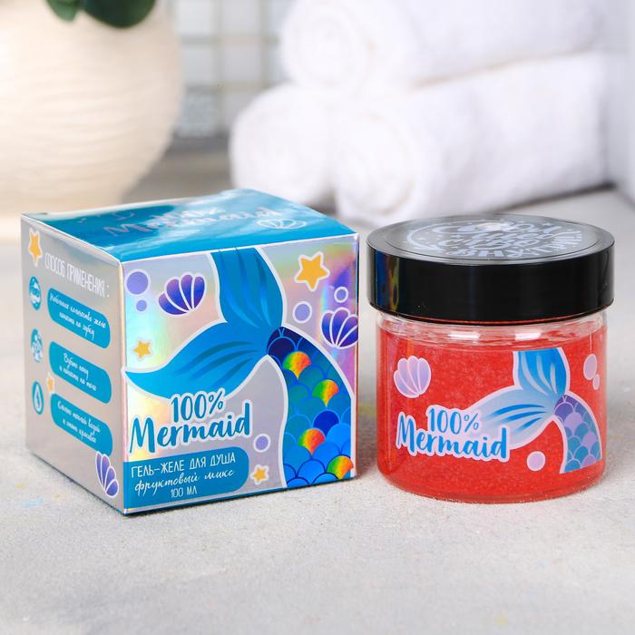 """Гель-желе для душа """"100% Mermaid"""", с ароматом фруктового микса"""