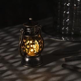 "Фигура световая ""Фонарь Дед мороз"", 12х6х8 см, от бат. 3хLR44, Т/БЕЛЫЙ"