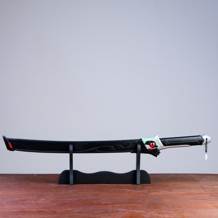 Сув. изделие Катана на подставке, черная в стиле Аниме, 75см, клинок 47см - фото 8875820