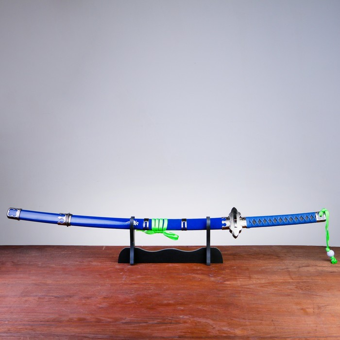 Сув. изделие Катана на подставке, синяя, клинок 68см