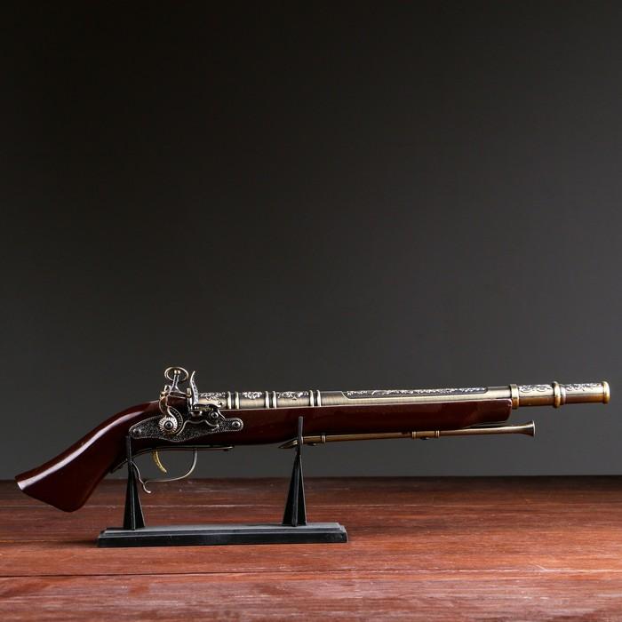 Сув. изделие Мушкет на подставке, зажигалка, 51 см - фото 8875443