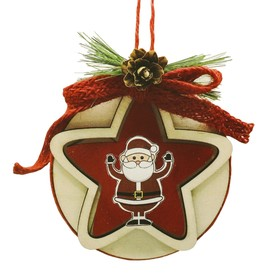 "Creativity kit - design Christmas tree decoration ""Santa Claus with star"""