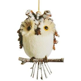 "Creativity kit - design Christmas tree ornament ""Owl on a perch"""