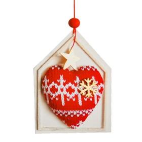 "Creativity kit - design Christmas tree ornament ""Heart with snowflake"""