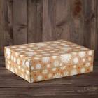 """Упаковка для капкейков, без окна, на 12  шт., """"Снежинки"""", 32,5 х 25,5 х 10 см"""