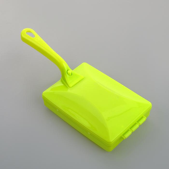 Щётка роликовая с ручкой, 2 ролика, цвет МИКС - фото 4646332