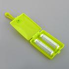 Щётка роликовая с ручкой, 2 ролика, цвет МИКС - фото 4646334