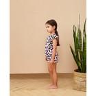 """Топ для девочки MINAKU """"Леопард"""", рост 116 см, цвет розовый леопард - фото 105710514"""