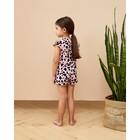 """Топ для девочки MINAKU """"Леопард"""", рост 116 см, цвет розовый леопард - фото 105710515"""
