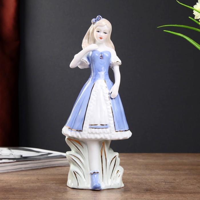"Сувенир керамика ""Девушка в голубом платье "" 23х9,5х6,5 см"