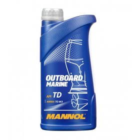 Масло моторное MANNOL 2T п/с Outboard Marine, 1 л