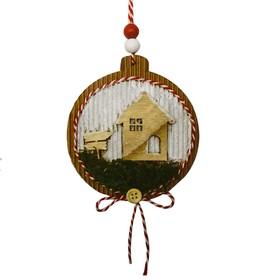 Набор для творчества - создай ёлочное украшение «Домик на полянке»