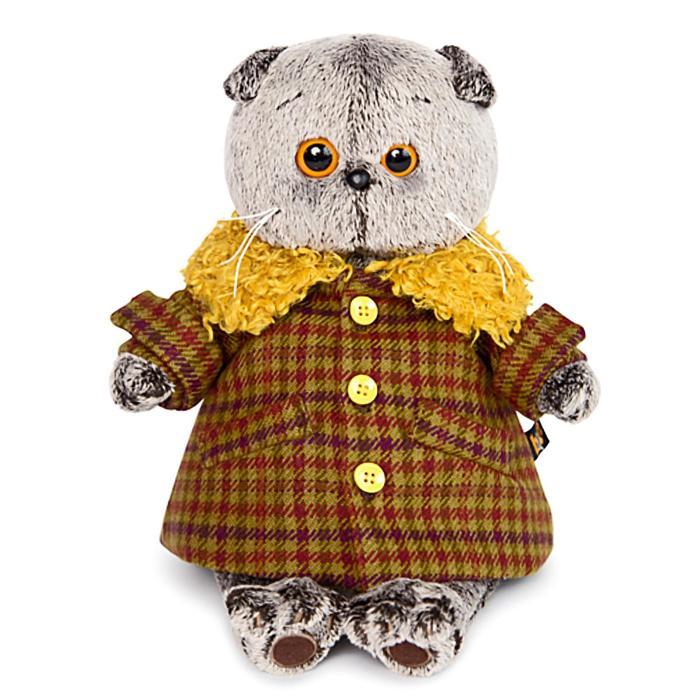Мягкая игрушка «Басик в пальто с желтым меховым воротником», 22 см - фото 4468980