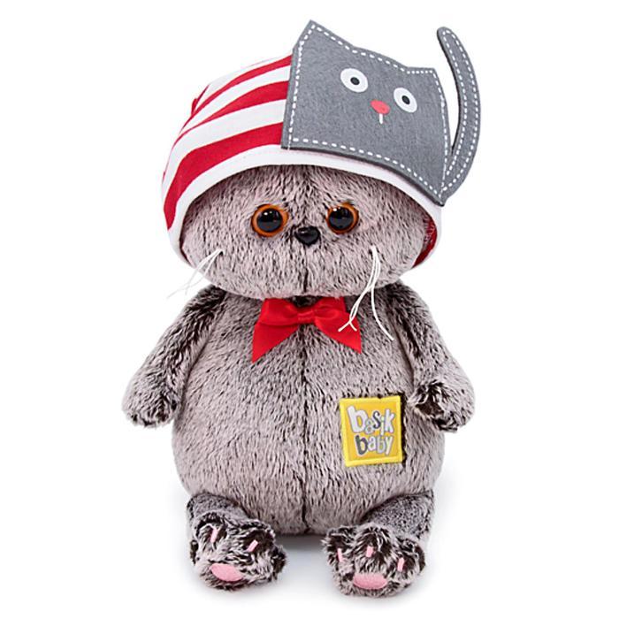Мягкая игрушка «Басик Baby в шапочке с котиком», 20 см - фото 4468984