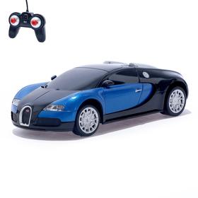 Машина радиоуправляемая Bugatti Veyron, 1:24, работает от батареек, свет, цвет синий