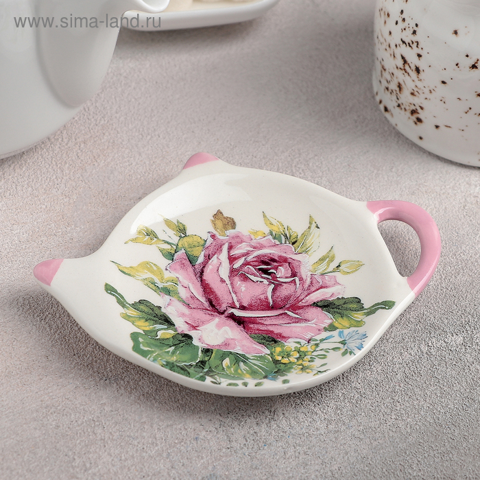 "Stand the tea bag ""rose"" 12h8,4x1,5 cm"
