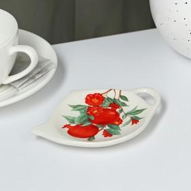 {{photo.Alt || photo.Description || 'Подставка под чайный пакетик Доляна «Гранат», 12×8,4 см'}}
