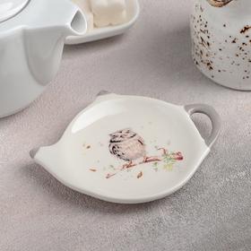 {{photo.Alt || photo.Description || 'Подставка под чайный пакетик Доляна «Совушка», 12×8,4 см'}}