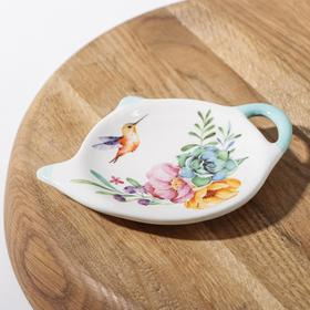 {{photo.Alt || photo.Description || 'Подставка под чайный пакетик Доляна «Пташка», 12×8,4 см'}}