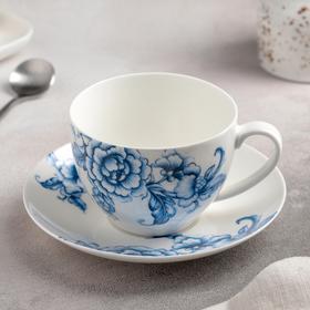 """Чайная пара """"Селена"""": чашка 280 мл, блюдце 15 см"""