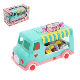Игровой набор «Сладкий магазинчик», в машинке, со звуковыми эффектами