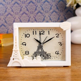 "Alarm Clock ""Paris Scenery"", 16.5h11.5 cm, mix"