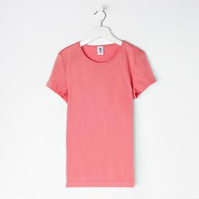 Футболка для девочки, цвет персиковый, рост 146-152 см