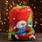 Мешок Деда Мороза «Снеговик», с подарками, 40 × 30 см