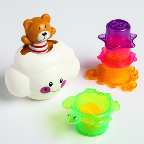 "A set of bath toys ""Bear on a cloud"""