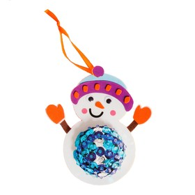 "Creativity kit - design Christmas tree ornament ""Snowman with pot belly"""