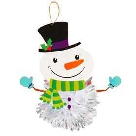 Набор для творчества - создай ёлочное украшение «Снеговик - шарик»